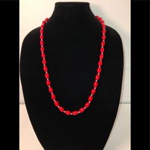 Jewelry - Red and Silver Bead Necklace